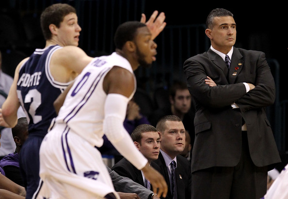 Frank Martin Head coach Frank Martin of the Kansas State Wildcats watches