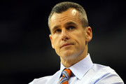 Head coach Billy Donovan of the Florida Gators looks on in the first half against the Norfolk State Spartans during the third round of the 2012 NCAA Men's Basketball Tournament at CenturyLink Center on March 18, 2012 in Omaha, Nebraska.