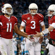 Carson Palmer and Larry Fitzgerald Photos