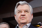 Carolina Panthers owner Jerry Richardson addresses the media at a news conference outside the Federal Mediation and Conciliation Service building March 11, 2011 in Washington, DC. The NFLPA has filed for decertification and will no longer be the exclusive collective bargaining representative for the players. Players will now be able to file antitrust lawsuits against the NFL.