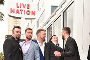 (L-R)Members of the iconic 90's boyband *NSYNC, Chris Kirkpatrick, Lance Bass, JC Chasez, Joey Fatone and Justin Timberlake were honored with a star on the Hollywood Walk of Fame on April 30, 2018 in Hollywood, California.