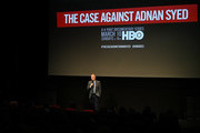 """Host/film producer Thom Powers introduces NY premiere of HBO's """"The Case Against Adnan Syed"""" at PURE NON FICTION on February 26, 2019 in New York City."""