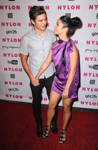Vanessa Hudgens Actors Zac Efron and Vanessa Hudgens arrive at the NYLON & YouTube Young Hollywood Party at the Roosevelt Hotel on May 12, 2010 in Hollywood, California.