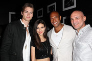 (L-R) Actor Pierson Fode, actress/singer Victoria Justice, NYLON magazine Associate Publisher Karim Abay and CEO of NYLON magazine Marc Luzzatto attend NYLON x Aloft Hotels celebrate The Music Issue with cover star HAIM on May 26, 2014 in Los Angeles, California.