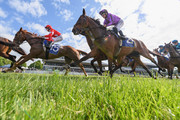 Itellyouonething ridden by Wiremu Pinn is seen ahead of Sampson ridden by Reese Jones in Race 9 Christchurch Casino 155th New Zealand Cup during New Zealand Cup and 1000 Guineas Day at Riccarton Park Racecourse on November 17, 2018 in Christchurch, New Zealand.