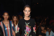 Model Hannah Jeter attends the Naeem Khan fashion show during New York Fashion Week: The Shows  at Gallery 1, Skylight Clarkson Sq on September 12, 2017 in New York City.