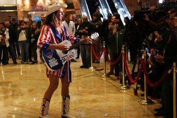 Naked Cowboy President-Elect Donald Trump Holds Meetings At His Trump Tower Residence In New York