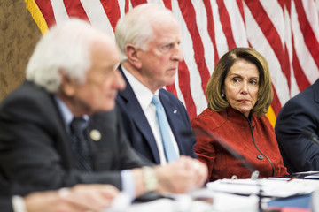 Nancy Pelosi House Democratic Leader Nancy Pelosi And House Dem Leadership Hold Forum on the GOP Tax Plan