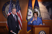U.S. House Minority Leader Rep. Nancy Pelosi (D-CA) (R) speaks as Rep. Chris Van Hollen (D-MD) (L) listens during a news conference March 20, 2014 on Capitol Hill in Washington, DC. Pelosi held the news conference to mark the 4th anniversary of the passing of the Affordable Care Act.