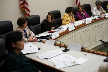 Nancy Pelosi Judy Chu House Democrats Hold Shadow Hearing On Immigration And Family Separation