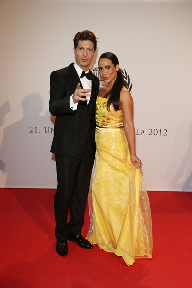 UNESCO Charity Gala 2012 [red carpet,carpet,formal wear,dress,flooring,event,fashion,yellow,suit,shoulder,dusseldorf,germany,unesco charity gala,sebastian deyle,nandini mitra]