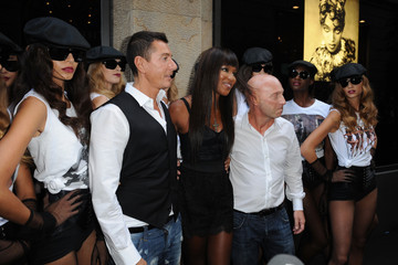 Naomi Campbell Domenico Dolce Naomi Campbell Celebrates 25 Year Career With Dolce & Gabbana: MFW S/S 2011