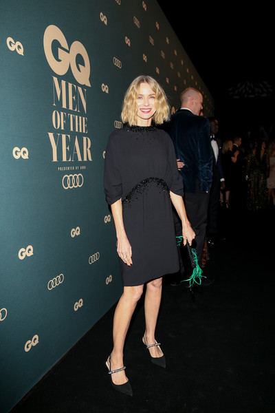 GQ Australia Men Of The Year Awards 2018 - Red Carpet [clothing,little black dress,fashion,dress,shoulder,joint,leg,event,fashion design,fun,red carpet,gq australia men of the year awards,naomi watts,gq australia men of the year awards,australia,sydney,the star]