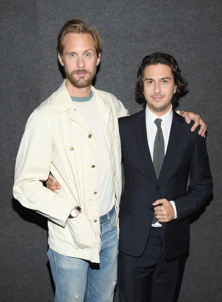 """The Kill Team"" New York Screening [suit,formal wear,outerwear,tuxedo,blazer,event,white-collar worker,alexander skarsg\u00e3,nat wolff,new york,landmark 57,the kill team,screening,new york screening]"