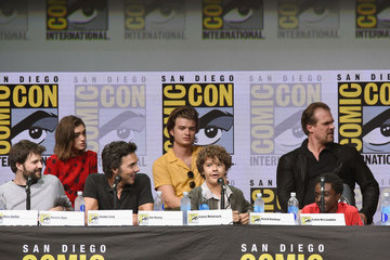 Natalia Dyer Gaten Matarazzo Comic-Con International 2017 - Netflix's 'Stranger Things' Panel