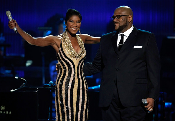 Photo of Ruben Studdard & his friend musician  Natalie Cole - United States
