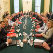 Natalie Evans The British Prime Minister Poses With Her Reshuffled Cabinet