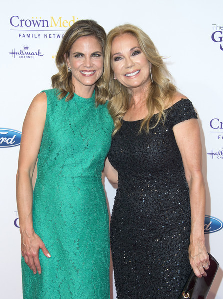 41st Annual Gracie Awards Gala - Arrivals [clothing,dress,cocktail dress,hairstyle,blond,fashion,premiere,event,long hair,fashion design,arrivals,tv personalities,natalie morales,kathie lee gifford,valerie macon,beverly hills,l,afp,annual gracie awards gala,annual gracies awards gala]