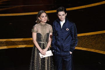 Natalie Portman Timothee Chalamet 2020 Getty Entertainment - Social Ready Content