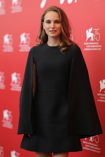 'Vox Lux' Photocall - 75th Venice Film Festival [clothing,fashion,outerwear,dress,hairstyle,carpet,premiere,lip,sleeve,flooring,lux photocall - 75th,natalie portman,photocall,venice,italy,sala casino,vox lux,venice film festival,75th venice film festival]