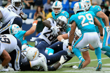 Nate Allen Miami Dolphins vLos Angeles Chargers