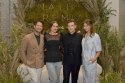 Nate Berkus, Sacha Strebe, Jeremiah Brent and Christina Perez attend Nate + Jeremiah For Living Spaces at HNYPT on April 11, 2019 in Los Angeles, California.