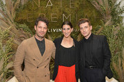 (L-R) Nate Berkus, Sydney Gilbert and Jeremiah Brent attend Nate + Jeremiah For Living Spaces at HNYPT on April 11, 2019 in Los Angeles, California.
