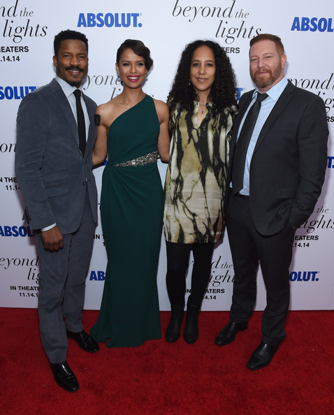 'Beyond the Lights' Premiere [beyond the lights,the new york premiere of relativity media,suit,event,carpet,premiere,red carpet,formal wear,white-collar worker,award,flooring,tuxedo,nate parker,gina prince-bythewood,gugu mbatha-raw,ceo,ryan kavanaugh,l-r,new york premiere of relativity media,relativity media]