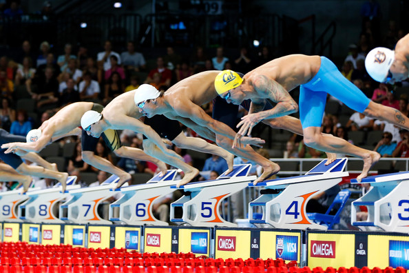 olympic swimming starting blocks