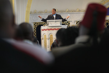 Louis Farrakhan Nation of Islam Leader Louis Farrakhan Addresses The Turmoil In The Middle East