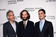 Ronald Bronstein, Josh Safdie, and  Benny Safdie attend The National Board of Review Annual Awards Gala at Cipriani 42nd Street on January 08, 2020 in New York City.