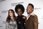 Salma Hayek, Lupita Nyong'o, and Billy Porter attend The National Board of Review Annual Awards Gala at Cipriani 42nd Street on January 08, 2020 in New York City.