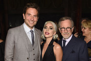 Bradley Cooper, Lady Gaga, and Steven Spielberg attend The National Board of Review Annual Awards Gala at Cipriani 42nd Street on January 8, 2019 in New York City.