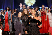 Alicia Keys, Richard Lawson, Tina Knowles-Lawson, Dr. Michael Eric Dyson, Maxwell, and National CARES Mentoring Movement Founder Susan L. Taylor on stage during the National CARES Mentoring Movement 4th Annual For The Love Of Our Children Gala at The Ziegfeld Ballroom on February 11, 2019 in New York City.