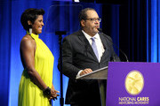 Tamron Hall and Dr. Michael Eric Dyson speak onstage during the National CARES Mentoring Movement 4th Annual For The Love Of Our Children Gala at The Ziegfeld Ballroom on February 11, 2019 in New York City.
