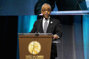 Rev. Al Sharpton speaks onstage at the National CARES Mentoring Movement's third annual For The Love Of Our Children Gala on January 29, 2018 in New York City.  (Photo by Bennett Raglin/Getty Images for National CARES Mentoring Movement))