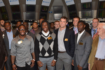 Andrew Luck Robert Griffin III National Football League 2012 Draft Prospects Visit The NYSE Trading Floor