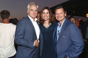 Bradley Whitford, Carolyn Bernstein and Steve Zahn attend the National Geographic's Annual Summer Party at Waldorf Astoria Beverly Hills on July 24, 2018 in Beverly Hills, California.