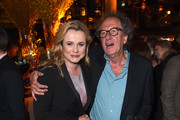 """Actors Emily Watson and Geoffrey Rush attend a reception for the London Premiere Screening for National Geographic's """"Genius"""" held at Quaglino's on March 30, 2017 in London, England."""