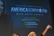 Zainab Salbi, Amber Fares, Sana Amanat,  and Amani Al-Khatahtbeh attend National Geographic's special screening of AMERICA INSIDE OUT WITH KATIE COURIC in association with Women in the World on April 13, 2018 in New York City. AMERICA INSIDE OUT WITH KATIE COURIC, a new six-part documentary series, follows Couric as she travels the country to talk with the people bearing witness to the most complicated and consequential questions in American culture today. The weekly series airs globally on National Geographic, Wednesdays, 10/9c.