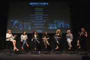 (L-R) Katie Couric, Sana Amanat, Amber Fares, Hoda Hawa, Amani Al-Khatahtbeh, Suzanne Barakat, and Zainab Salbi attend National Geographic's special screening of AMERICA INSIDE OUT WITH KATIE COURIC in association with Women in the World on April 13, 2018 in New York City. AMERICA INSIDE OUT WITH KATIE COURIC, a new six-part documentary series, follows Couric as she travels the country to talk with the people bearing witness to the most complicated and consequential questions in American culture today. The weekly series airs globally on National Geographic, Wednesdays, 10/9c.