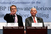 "William Reilly (L) and former Sen. Bob Graham (R), co-chairmen of the National Commission on the BP Deepwater Horizon Oil Spill and Offshore Drilling, announce the findings of the commission's final report on January 11, 2011 in Washington, DC. The commission concluded that only ""urgent reform"" could prevent another environmental disaster similar to BP's blown out Macondo well in the Gulf of Mexico."