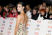 Vick Hope attends the National Television Awards 2020 at The O2 Arena on January 28, 2020 in London, England.