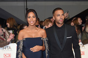 Rochelle Humes and Marvin Humes attend the National Television Awards on January 25, 2017 in London, United Kingdom.