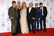 (L-R) Joey Essex, Rebecca Adlington, Amy Willerton, David Emanuel, Kian Egan and Matthew Wright pose after winning the Best Entertainment Programme award for I'm A Celebrity Get Me Out Of Here! during the National Television Awards at 02 Arena on January 22, 2014 in London, England.
