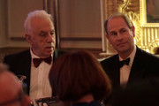 Prince Edward, Earl of Wessex (R) and David Pearl attend the National Youth Theatre Baroque And Roll Fundraising Gala 2020 at Spencer House on February 11, 2020 in London, England.