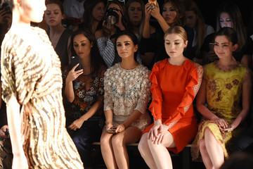 Nazanin Boniadi Jenny Packham - Front Row - September 2016 - New York Fashion Week: The Shows