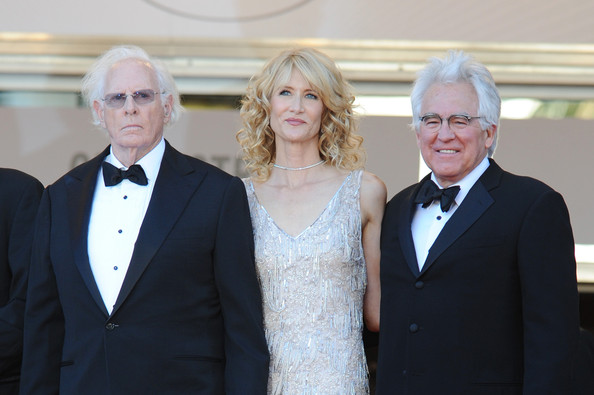 Bruce Dern (L) and Laura Dern (C) attend the 'Nebraska' premiere during The 66th Annual Cannes Film Festival at the Palais des Festival on May 23, 2013 in Cannes, France.
