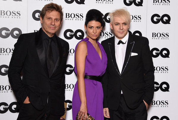 Guests Arrive at the GQ Men of the Year Awards [suit,event,premiere,carpet,white-collar worker,award,tuxedo,formal wear,fashion accessory,little black dress,gq men of the year awards,r-l,england,london,the royal opera house,guests,nefer suvio,roger taylorattends,nick rhodes]