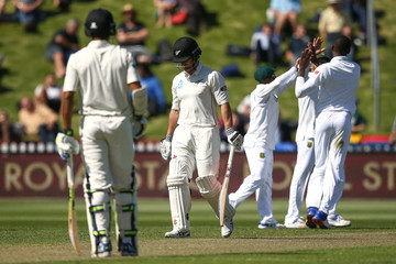Neil Broom New Zealand v South Africa - 2nd Test: Day 1